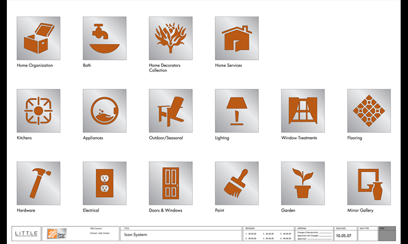 Symbols, Home Depot Design Center, Home Depot, Little
