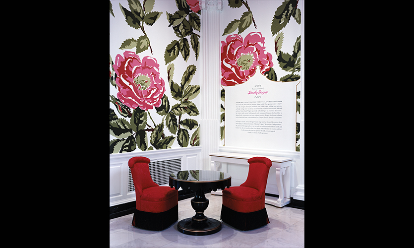 Flower Wallpaper Pattern, The High Style Of Dorothy Draper, Museum Of The  City Of