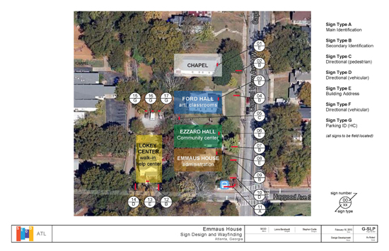 Emmaus House Sign Location Plan