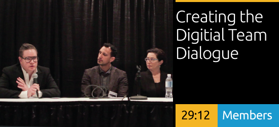 SEGD  2016 DesignX - Creating the Digital Team : Dialogue