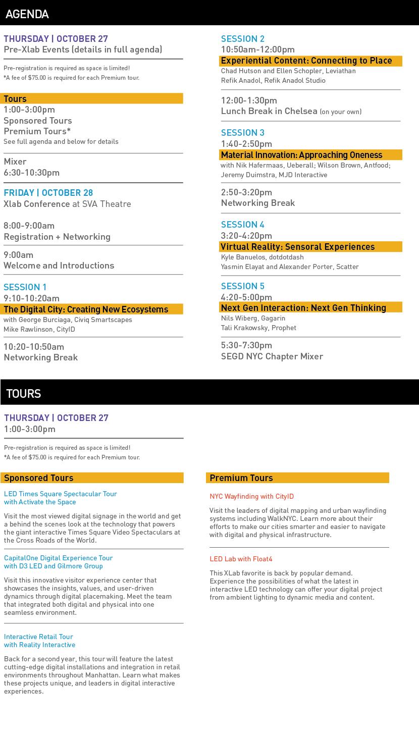 SEGD Xlab Agenda 10/19