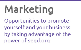 See how to take advantage of segd.org to promote yourself and your business