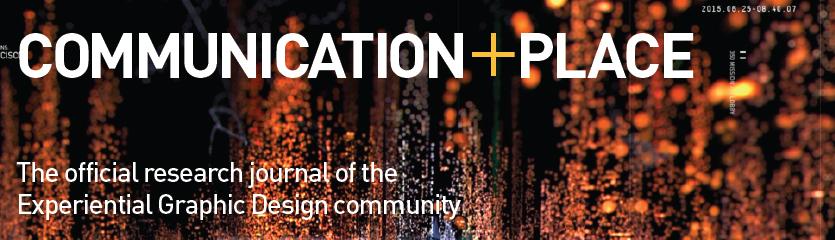 2017 SEGD Communication + Place Design Research Journal Header
