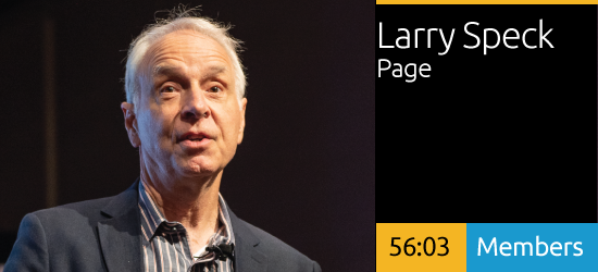 Larry Speck - Connecting People - Design, Culture, and Place