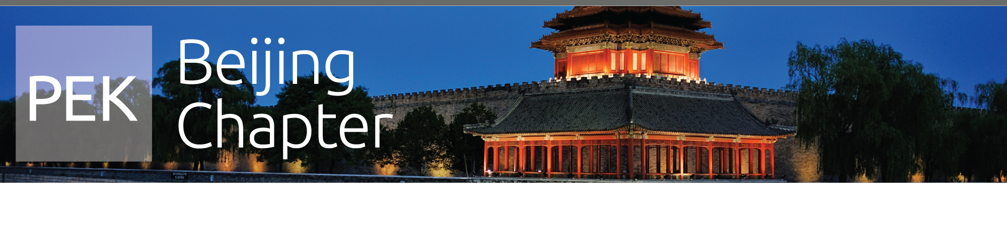 Beijing Chapter Header