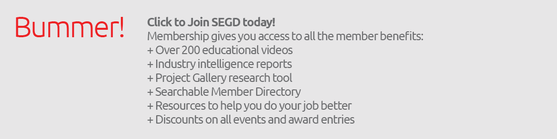 Click to join SEGD and gain access to these fantastic Member only tools