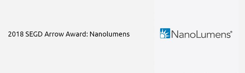 2018 SEGD Arrow Award Nanolumens