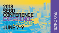 Click to purchase an SEGD Conference NEXPO (Friday) day only Registration for a non-designer