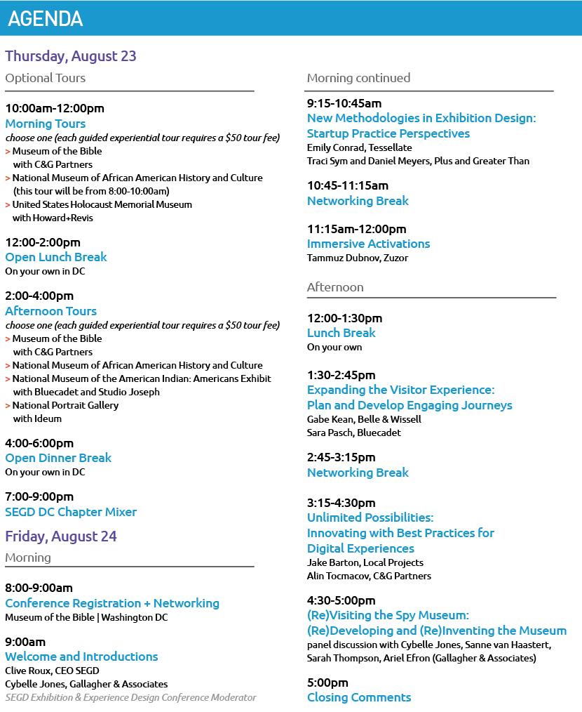 SEGD E&E Agenda 8/9/18