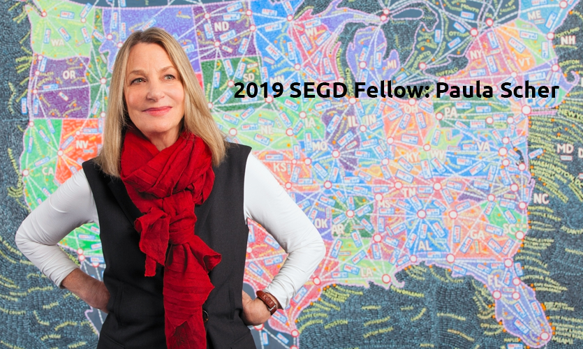2019 SEGD Fellow Paula Scher, Pentagram, New York