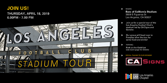 LAFC Stadium Tour Invite