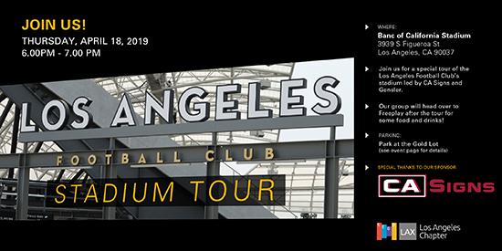 LAFC Stadium Tour Invite