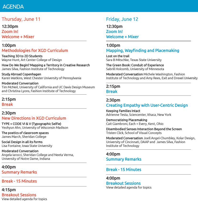 2020 Academic Summit Brief Agenda
