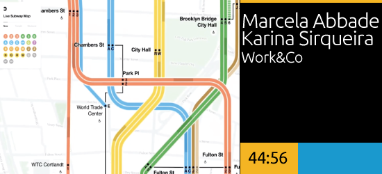 MTA Live Subway Map, Marcela Abbade & Karina Sirqueira