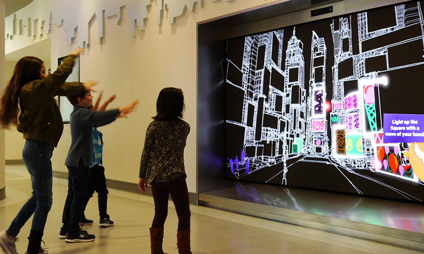 Control the screens in Times Square with the wave of your hand.