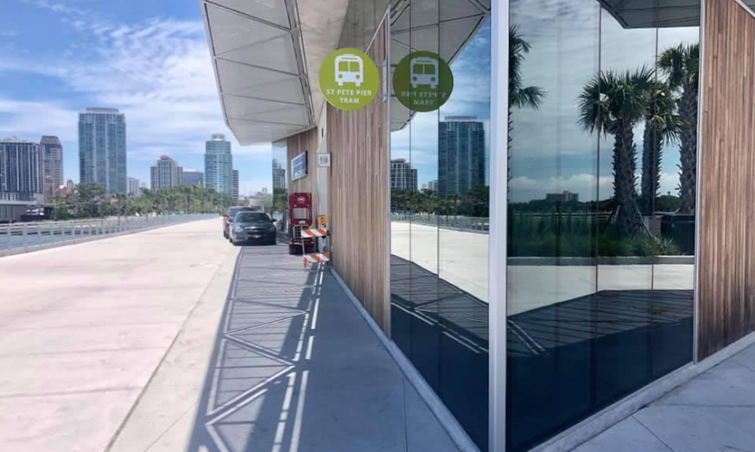 New signs greet visitors at St. Petersburg's $92 million, 26-acre Pier District.