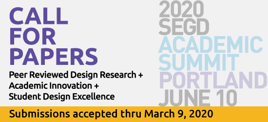 2020 SEGD Academic Summit Call for Papers