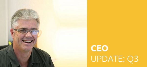 Click to read the CEO's sum up of the progress made during Q3 2018