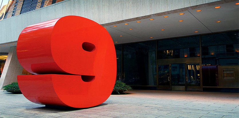 Chermayeff & Geismar's big red sculptural address marker