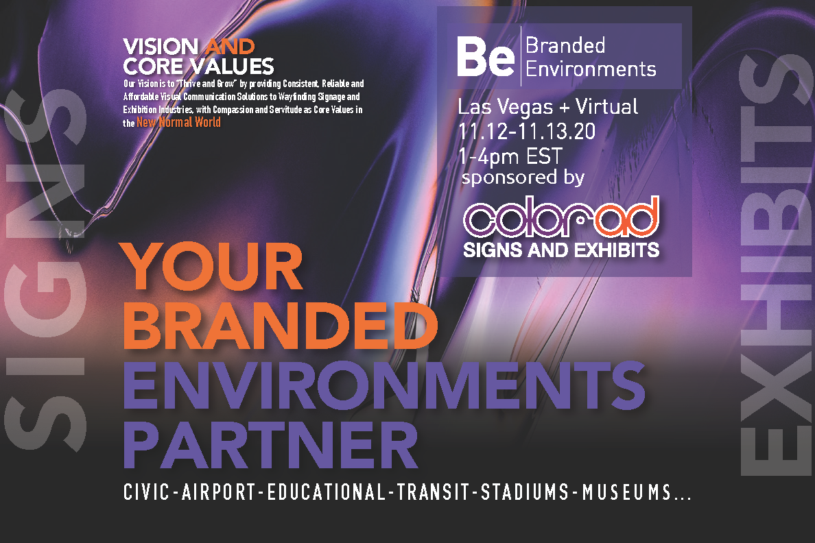 Color-Ad is the Presenting Sponsor for 2020 SEGD Branded Environments