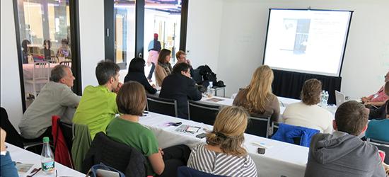 Image of the SEGD presentation at DxBOSTON 2013