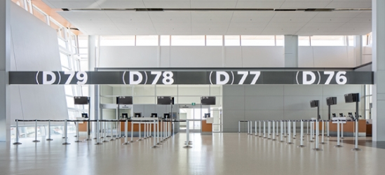 Entro's Wayfinding for Calgary Airport