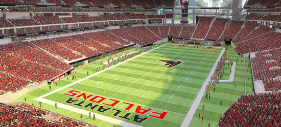 Image of the Atlanta Falcons Stadium