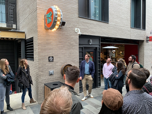 SEGD Denver tours Dairy Block with Nine Dot Arts