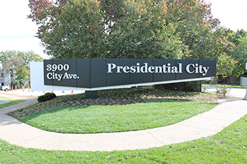 Presidential City Wall Sign