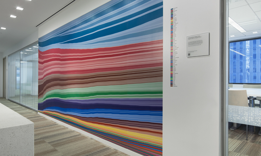 By Placing The Data Imagery On White Walls Landor Evoked Feeling Of An Art