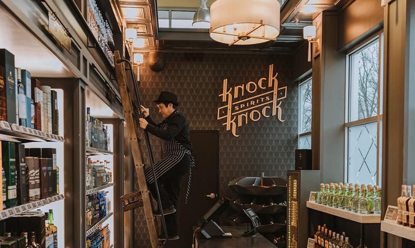 api(+) prototype design for Knock Knock Spirits