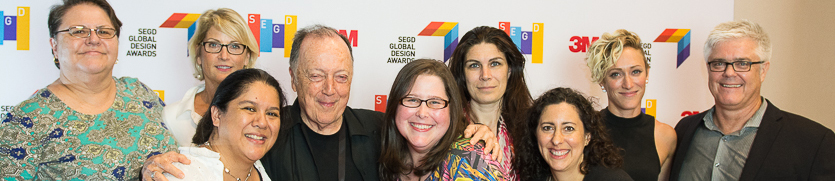 Lance Wyman and part of the SEGD Staff