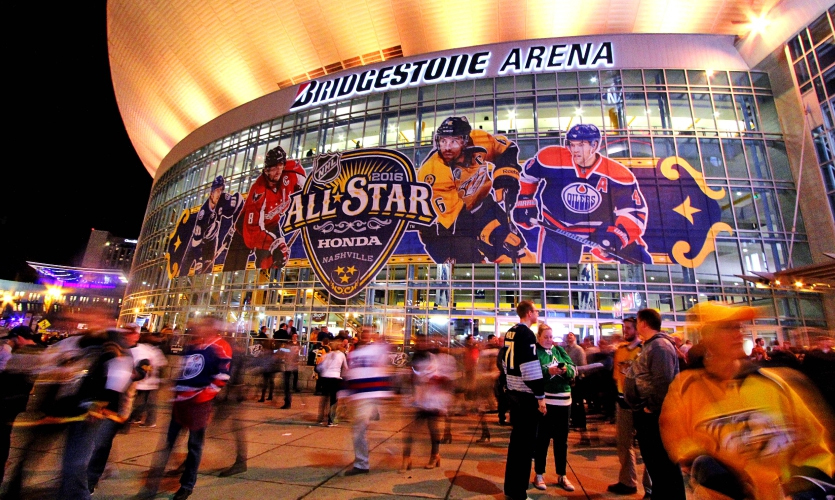 Image of the NHL All-Stars stadium graphics in 2016