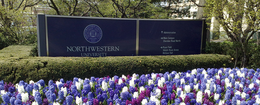Northwestern University Sign