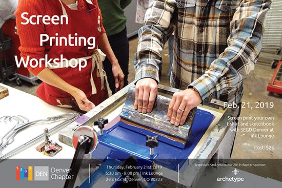 Screen Print Workshop with SEGD Denver + Ink Lounge