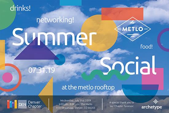 SEGD Denver Summer Social at the Metlo Rooftop