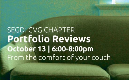 SEGD CVG Chapter Portfolio Reviews October 13