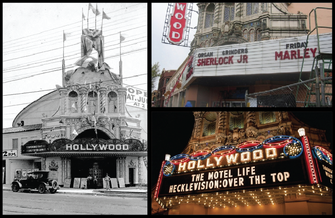 Hollywood Marquee Sign Collage