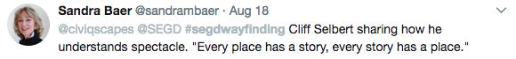 2017 Wayfinding Tweet-Sandra Baer