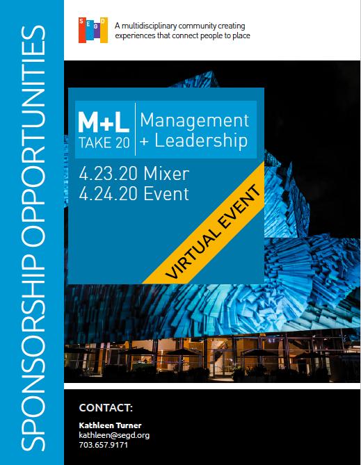 2020 Management + Leadership Sponsorship Opportunities
