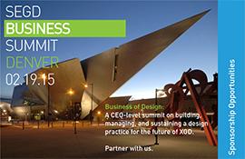SEGD Business of Design Sponosrship Brochure