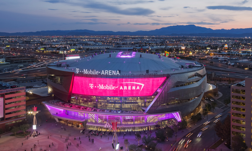 Bright Lights Big Show At T Mobile Arena Las Vegas Segd