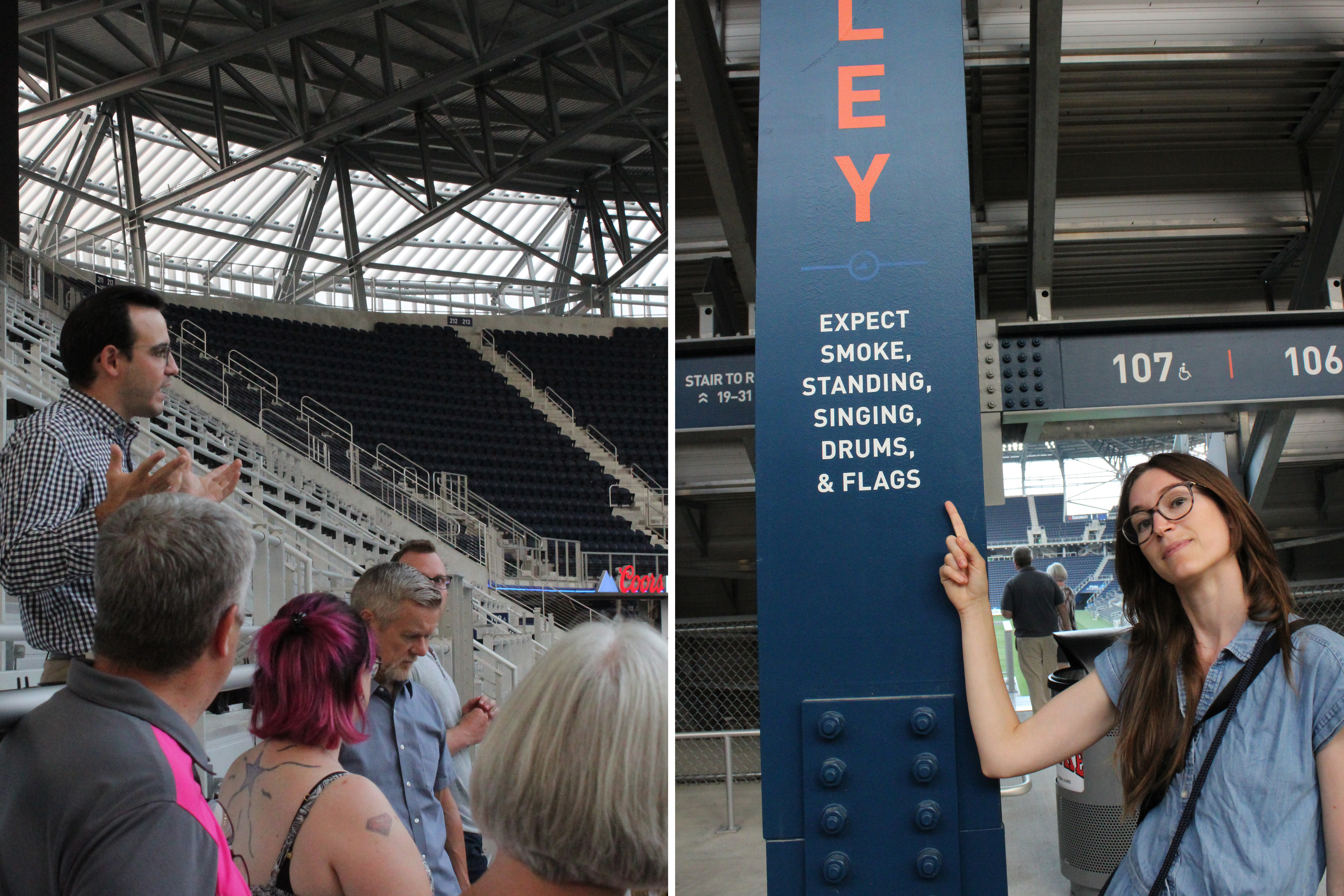 Images of the Bailey, FC Cincinnati's cheering section