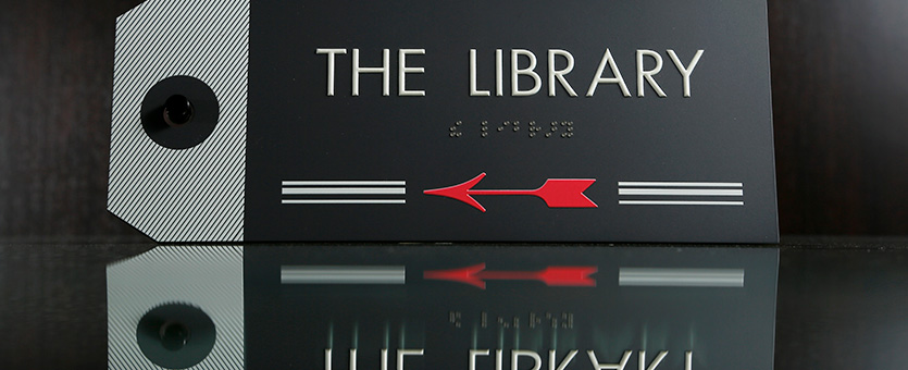 Boyd Sign Systems - Library Sign