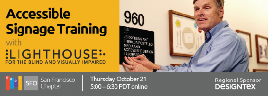 Accessible Signage Training banner
