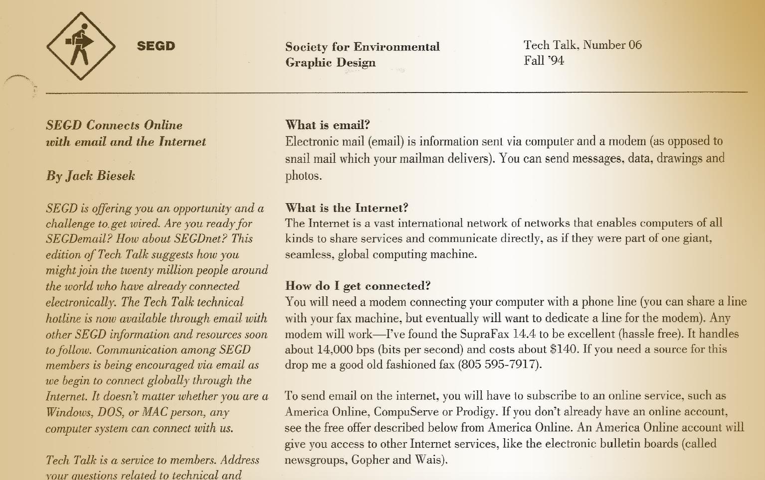 What is email by Jack Biesek