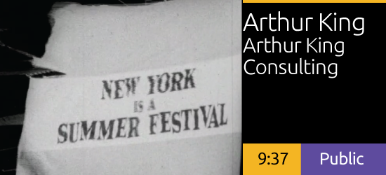 New York is a Summer Festival, by Arthur King