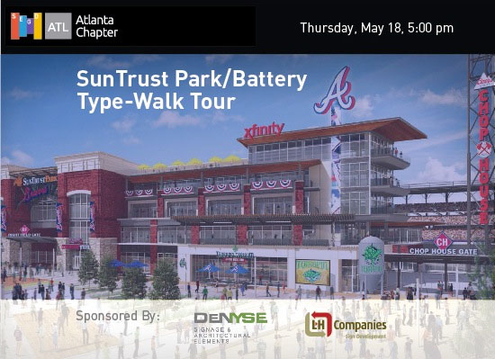 SEGD Atlanta Chapter Type Walk and tour of The Battery and SunTrust Park
