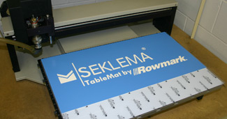 photograph of Rowmark Seklema TableMat engravable product