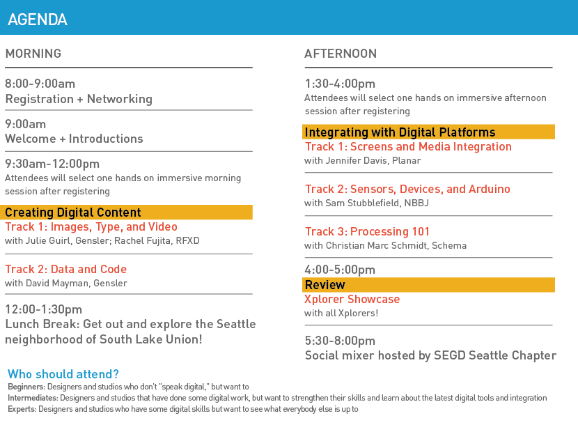 SEGD Xplorer Seattle Agenda Brief 07-15